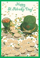 SPD012 $2.80 Retail - value St. Patricks Day Greeting Cards - General - wholesale units of 6 cards