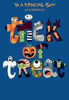 HAL26 - $2.80 Retail Each - Value Baby Boy Halloween Greeting Card - PKD 6
