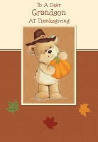 THA32 - $2.80 Retail Each - Value Thanksgiving Grandson Juvenile Greeting Card - PKD 6