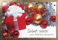 FR001 - $2.80 Retail Each - French Language Christmas Greeting Cards - PKD 6