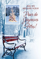 FR002 - $2.80 Retail Each - French Language Christmas Greeting Cards - PKD 6