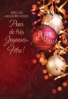 FR004 - $2.80 Retail Each - French Language Christmas Greeting Cards - PKD 6