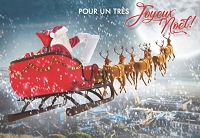 FR007 - $2.80 Retail Each - French Language Christmas Greeting Cards - PKD 6