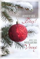 FR009 - $2.80 Retail Each - French Language Christmas Greeting Cards - PKD 6