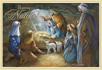 IT004 - $2.80 Retail Each - Italian Language Christmas Greeting Cards - PKD 6