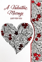 7874 - $3.99 Retail Each - Premium Valentine's Day General Just For You Greeting Card - PKD 3's