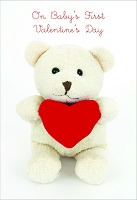 7875 - $3.99 Retail Each - Premium Valentine's Day Juvenile Baby's 1st Greeting Card - PKD 3's