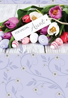 EA462 - $3.99 Retail Each - Premium Easter Aunt Greeting Card PKD 3
