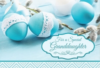 EA435 - $3.99 Retail Each - Premium Easter Granddaughter Greeting Card PKD 3