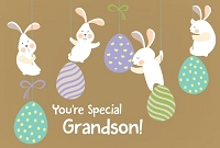 EA439 - $3.99 Retail Each - Premium Easter Grandson Greeting Card PKD 3