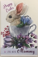 EA432 - $3.99 Retail Each - Premium Easter Mommy Greeting Card PKD 3