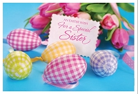 EA441 - $3.99 Retail Each - Premium Easter Sister Greeting Card PKD 3