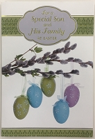 EA457 - $3.99 Retail Each - Premium Easter Son & Family Greeting Card PKD 3