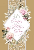 MD369 - Retail $3.99 Each - Mothers Day Mom from Son Greeting Cards PKD 3 - Premium