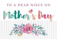 MD380 - Retail $3.99 Each - Mothers Day Niece Greeting Cards PKD 3 - Premium