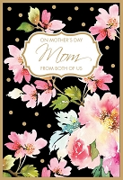 MD324 - Retail $3.99 Each - Mothers Day Mom From Both Greeting Cards PKD 3 - Premium