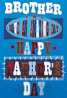 FDGC035 - $3.99 Retail Each - Fathers Day Brother Greeting Cards PKD 3 - Premium