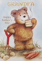 FDGC071 - $3.99 Retail Each - Fathers Day Grandpa Juvenile Greeting Cards PKD 3 - Premium