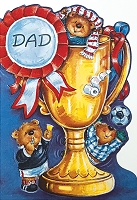 FDGC044 - $3.99 Retail Each - Fathers Day Dad Greeting Cards PKD 3 - Premium