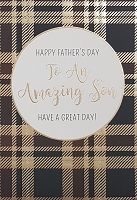 FDGC085 - $3.99 Retail Each - Fathers Day Son Greeting Cards PKD 3 - Premium