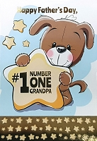 FDGC072 - $5.99 Retail Each - Fathers Day Grandpa Juvenile Greeting Cards PKD 3 - Premium
