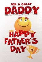 FDGC065 - $5.99 Retail Each - Fathers Day Daddy Greeting Cards PKD 3 - Premium