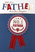 FDGC061 - $5.99 Retail Each - Fathers Day Father from Daughter Greeting Cards PKD 3 - Premium