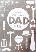 FDGC059 - $5.99 Retail Each - Fathers Day Like A Father Greeting Cards PKD 3 - Premium