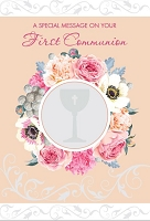 CCGC047 - $3.99 Retail Each - Communion Girl Greeting Cards - English - wholesale units of 3 cards