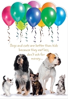 6054 - $3.99 Retail Each - Birthday Card Cute PKD 6