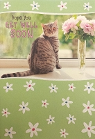 6087 - $3.49 Retail Each - Get Well Greeting Cards Cute PKD 6