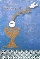 CCGC048 - $5.99 Retail Each - Communion General Greeting Cards - English - wholesale units of 3 cards