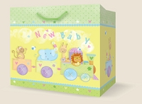 PGB001 - $5.99 Premium Extra-Deep New Baby Gift Bag packed 12
