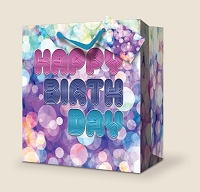 SB104 - Extra-Deep Premium Birthday Gift Bag packed 12
