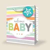 PGB050 - Premium Medium Baby Gift Bag packed 12
