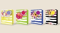 PR1023 - Fantastic Florals Large Flocking Bag - 48 in assortment - 12 each of 4 designs
