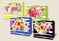 PR1021 - Premium Large Fantastic Florals Horizontal Bags - 48 in assortment - 12 each of 4 designs