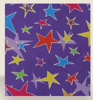 RW1065 - $3.99 Retail each, Stars Roll Wrap,  PKD 10