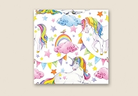 RW1055 - $3.99 Retail each, Rainbow Unicorn Roll Wrap pkd 10