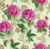 RW1064 - $3.99 Retail each, Pink Floral Roll Wrap,  PKD 10