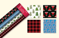 CRW13 - 4 Pack Christmas Roll Wrap Assortment - Case pack 24 pcs. -  30