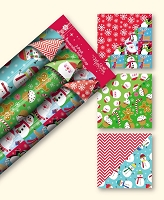 CRW14 - 3 Pack Christmas Reversible Roll Wrap - Case pack 24 pcs. - 30