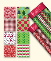 CRW15 - 4 Pack Christmas Roll Wrap - Case pack of 24 pcs assorted - Foil paper -  30