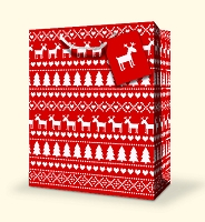 CGB07  - Large Christmas Gift Bag - Christmas Patterns - pkd 12's - Discounted