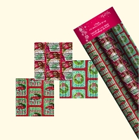 CRW01 - 3 Pack of beautiful Rustic Christmas Roll Wrap - 30