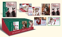 CBC06 - Pre-order - Christmas Boxed Cards - Jingle Paws - Retail $9.99 per box - 16 foiled cards per box - 36 boxes per unit - Discounted 20%