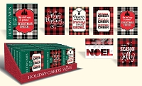 CBC07 - Pre-Order Christmas Boxed Cards - Glad Tidings - Retail $9.99 per box - 16 foiled cards per box - 36 boxes per unit - Discounted 20%