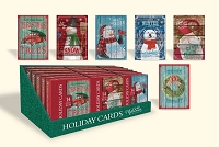 CBC10 - Pre-Order Christmas Boxed Cards - Rustic Christmas - Retail $6.99 per box - 14 cards per box - 36 boxes per unit - discounted 20%