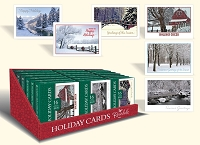 CBC08 - Pre-Order Christmas Boxed Cards - Greetings of The Season - Retail $9.99 per box - 16 foiled cards per box - 36 boxes per unit - discounted 20%