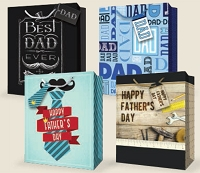 GBLGFD01 - Father's Day Large Gift Bag Assort - 30% off wholesale - 48 total
